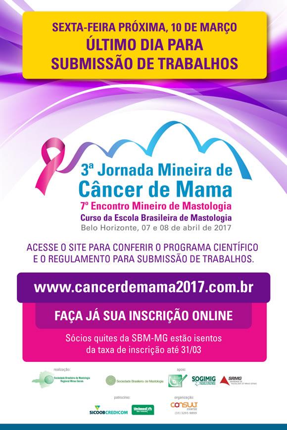 3ª Jornada Mineira de Câncer de Mama 2017